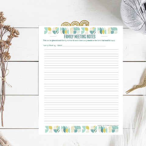 The Exclusive Family Meeting Planner Bundle