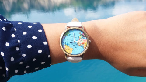 World Map Watch Wearing