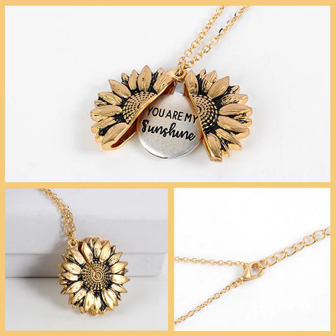 Sunflower Sunshine pendant locket that opens up from wiki wiseman