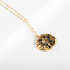 "(Special Deal) ""You Are My Sunshine"" Sunflower Necklace + Free Flower Gift Box"