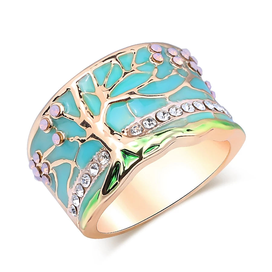 Limited Edition: Lucky Tree Opal Green Ring