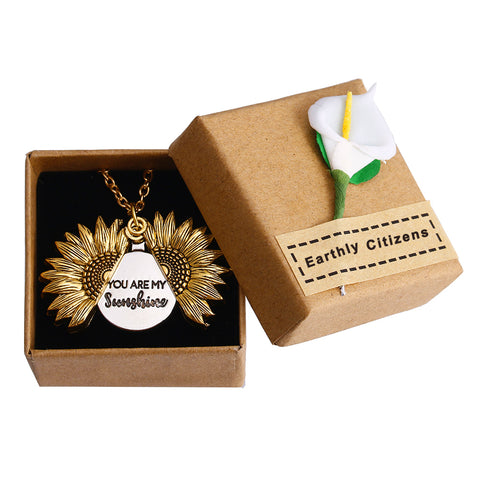40% Off + Free flower gift box while supplies last for sunflower sunshine necklace