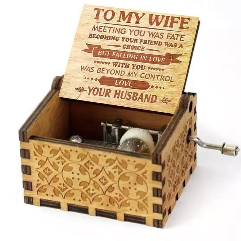 "To My Wife - ""Falling in love"" Engraved Music Box"