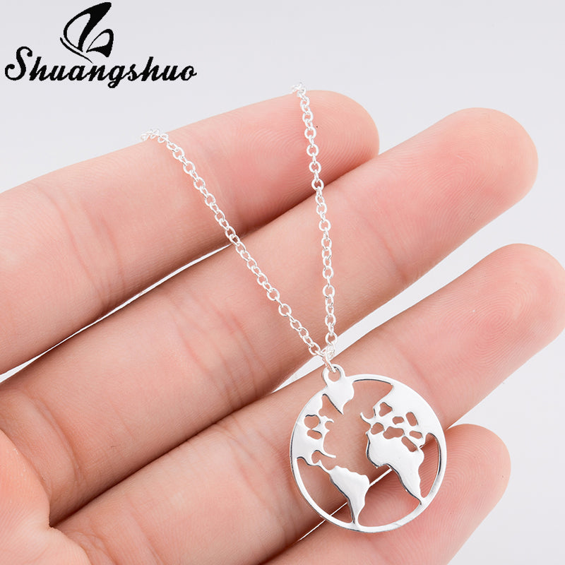 Premium Globe Necklace - Earthly Citizens