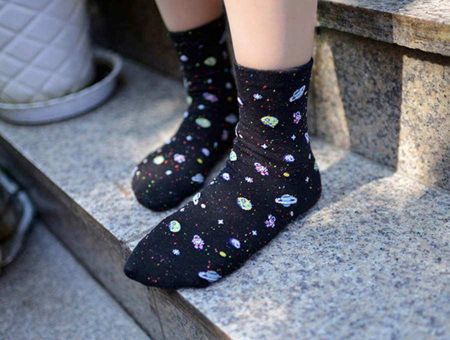 Floating Out In Outer Space Socks - Earthly Citizens
