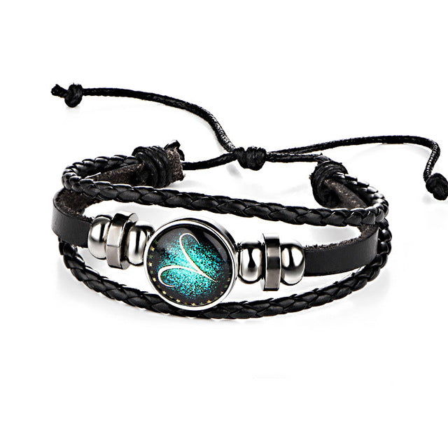 Flash Sale: Leather Zodiac Sign Bracelet - Earthly Citizens