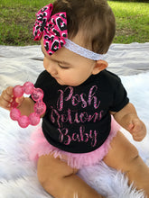 Posh Notions Baby Cheetah Print Logogear