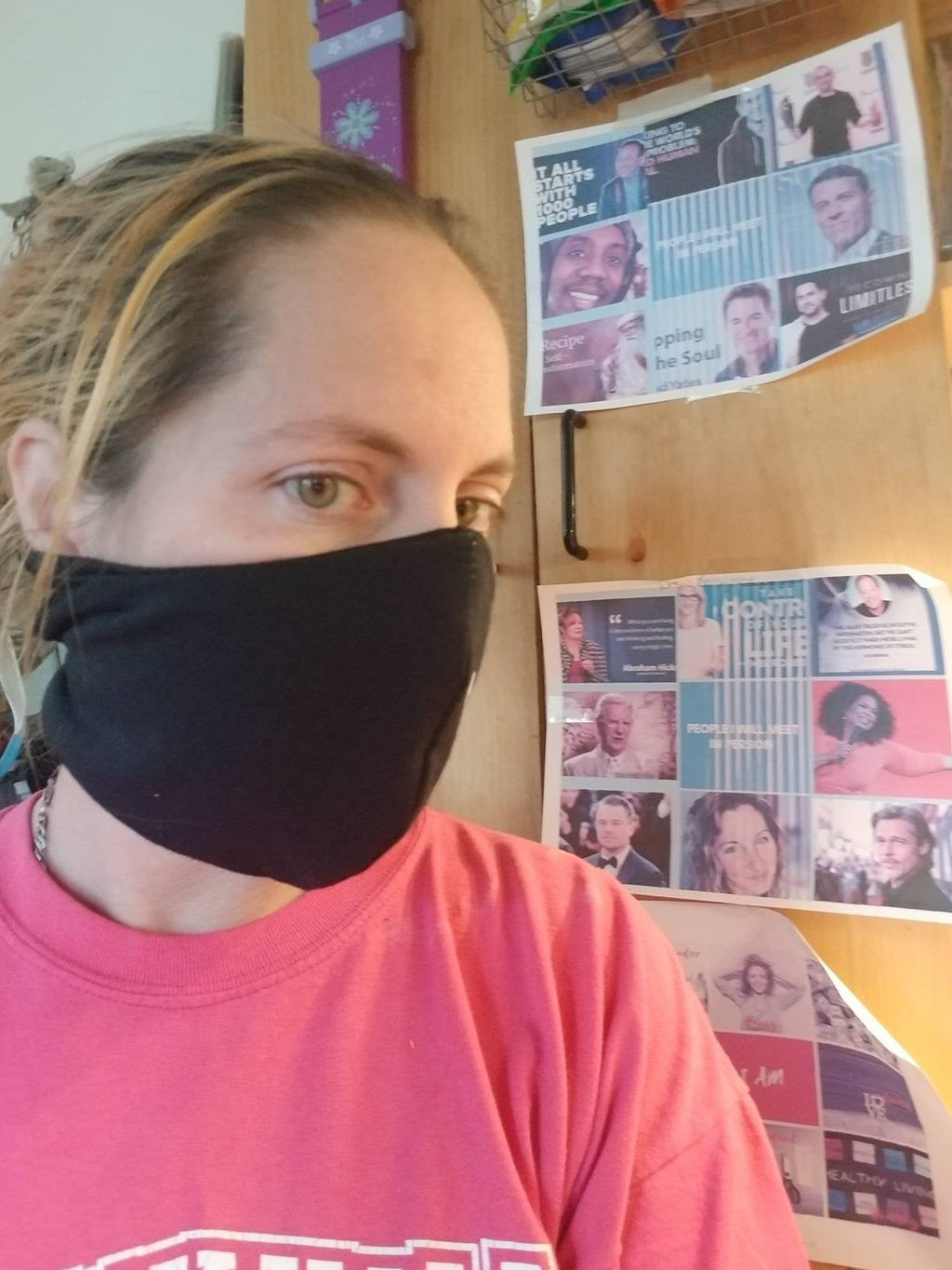 Mask with Filter Pocket Buy One Donate One Covering in Black Pink or Blue Soft Jersey Cotton Reusable Comfort Fitted Breathable Washable