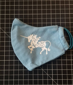 Unicorn Face Mask With Filter Pocket