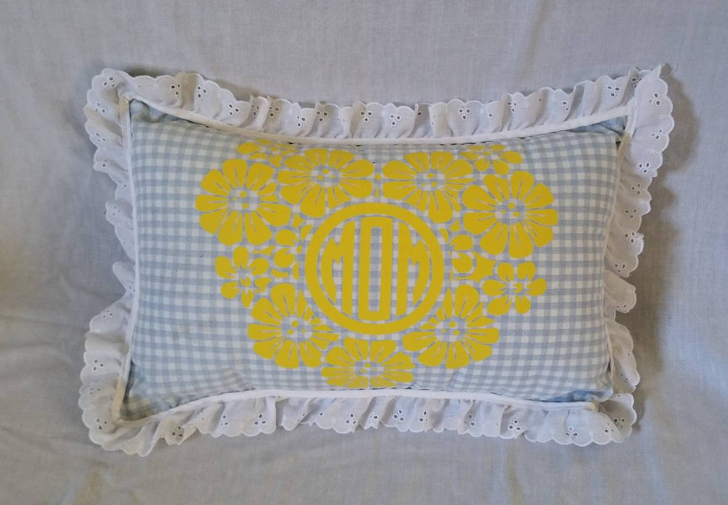 Heart Monogram Pillow