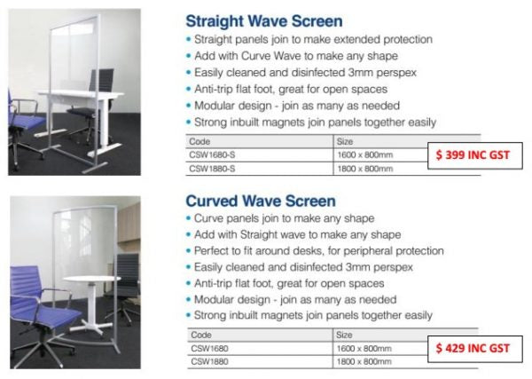 Clear Screen Range - Straight & Curved