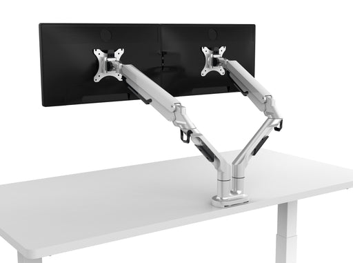 RYZ Dual Monitor Arm White
