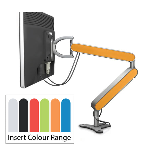 Zgo Single Monitor Arm with 6 Colour Inserts