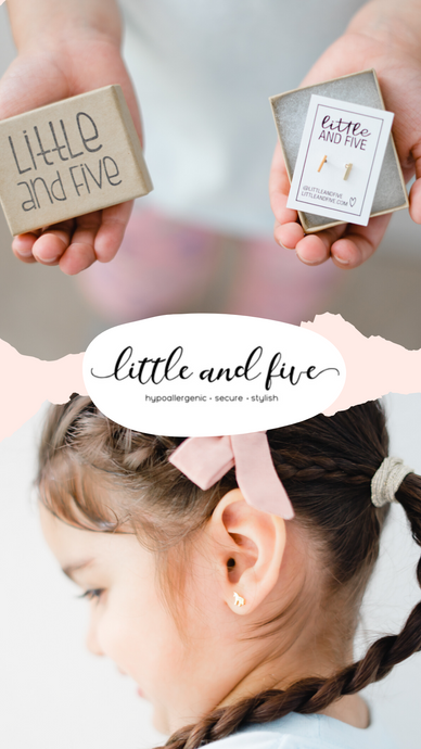 Hypoallergenic Baby & Kids Earrings | Little and Five