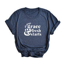 Load image into Gallery viewer, Grace & Fresh Starts Adult Tee