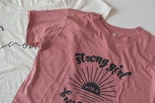 Load image into Gallery viewer, Strong Girl with a Bright Future Kids Tee