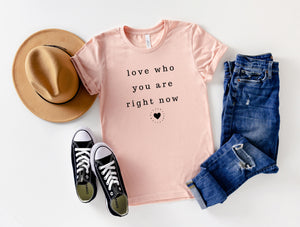 Love Who You Are Adult Top