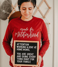 Load image into Gallery viewer, Made for Motherhood Long-Sleeve Shirt