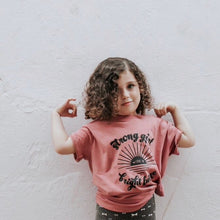 Load image into Gallery viewer, Strong Girl, Bright Future Kids Tee