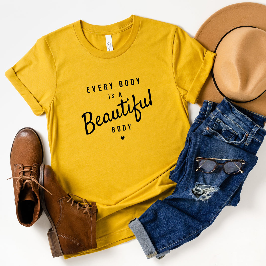 Every Body is a Beautiful Body Adult Tee