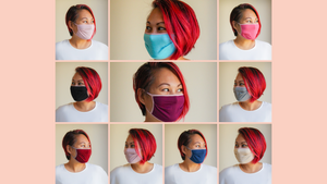 cloth face masks collage