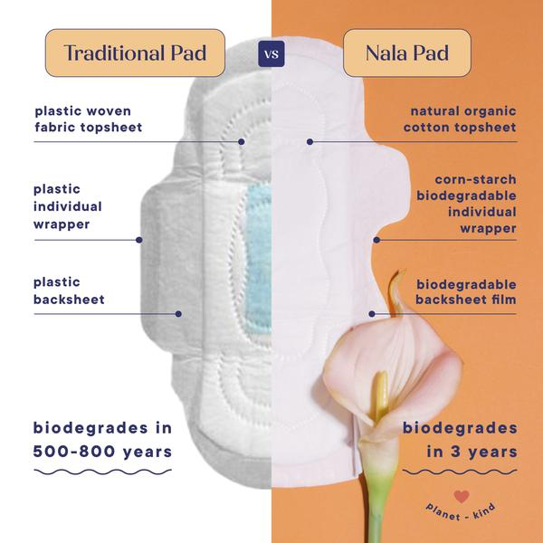 Biodegradable Night Pads by Nala Woman