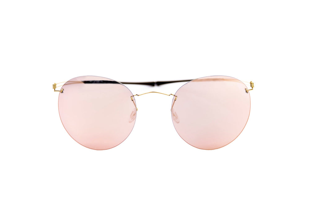 Monogram-MS007-gold/pkm-zeiss pink mirror lens