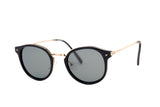MAU-1825-01-BLACK-GOLD-GREY POLARIZED LENS-INSERT OF STRASS ON THE HINGES