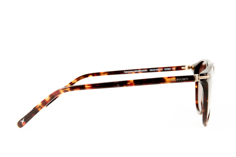 MAU-1830-03-BROWN-GOLD-GRADIENT BROWN POLARIZED LENS-INSERT OF STRASS