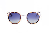 MAU-1718-01-TORT BROWN-SILVER-GRADIENT POLARIZED BLUE LENS
