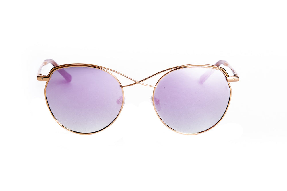 MAU-1828-02-GOLD-PINK MIRROR POLARIZED LENS