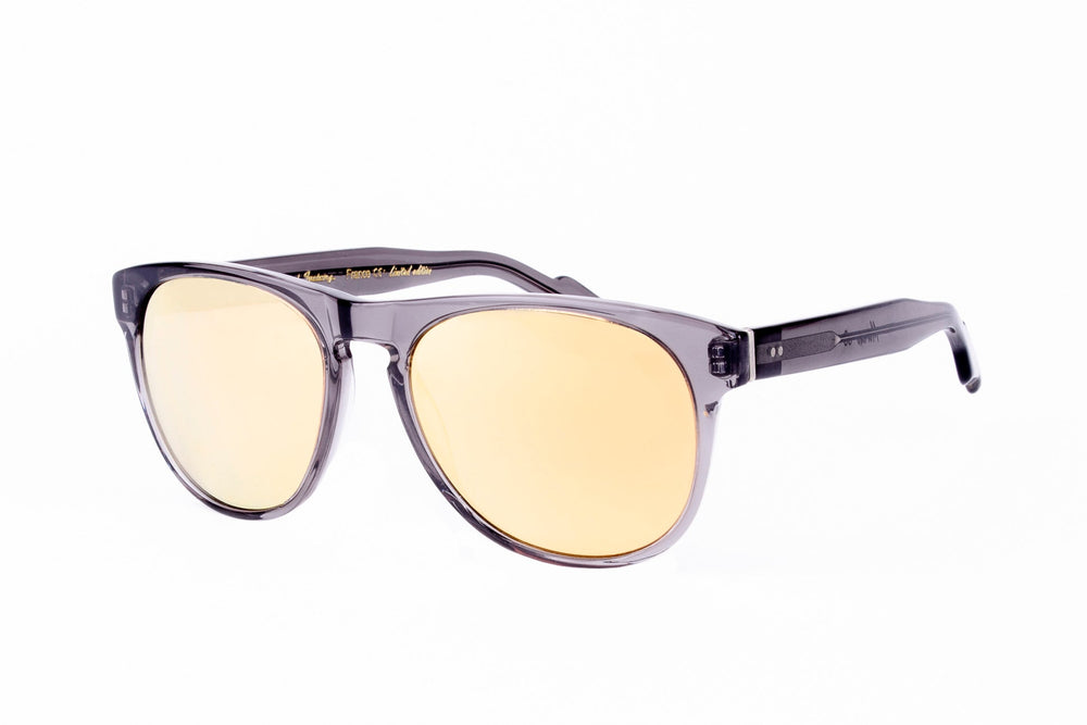 MORENO POL-0-CRYSTAL GREY-MIRROR GOLD LENSES