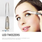 "Unisex Eutuxia Tweezers with LED Light, Eyebrow and Eyelash Hair Removal Tool ""Buy One and Get One Free + Free Shipping"""