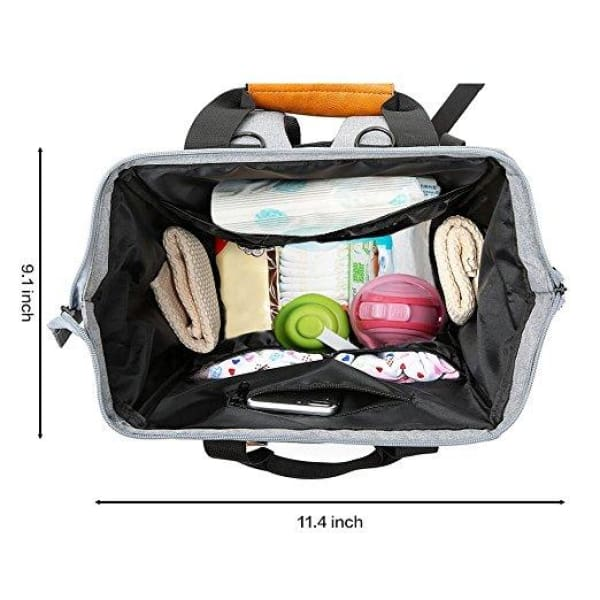 Diaper Bag Backpack Multi-Function Waterproof Travel Maternity Nappy Changing Tote Bag For Mom & Dad Insulated Pockets Anti-theft Large