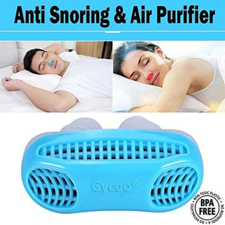 Gycoo - New Best Original Anti Snoring Solution & Air Purifier Filter Stop Snore Nose Vent for Comfortable Sleep Blue - health