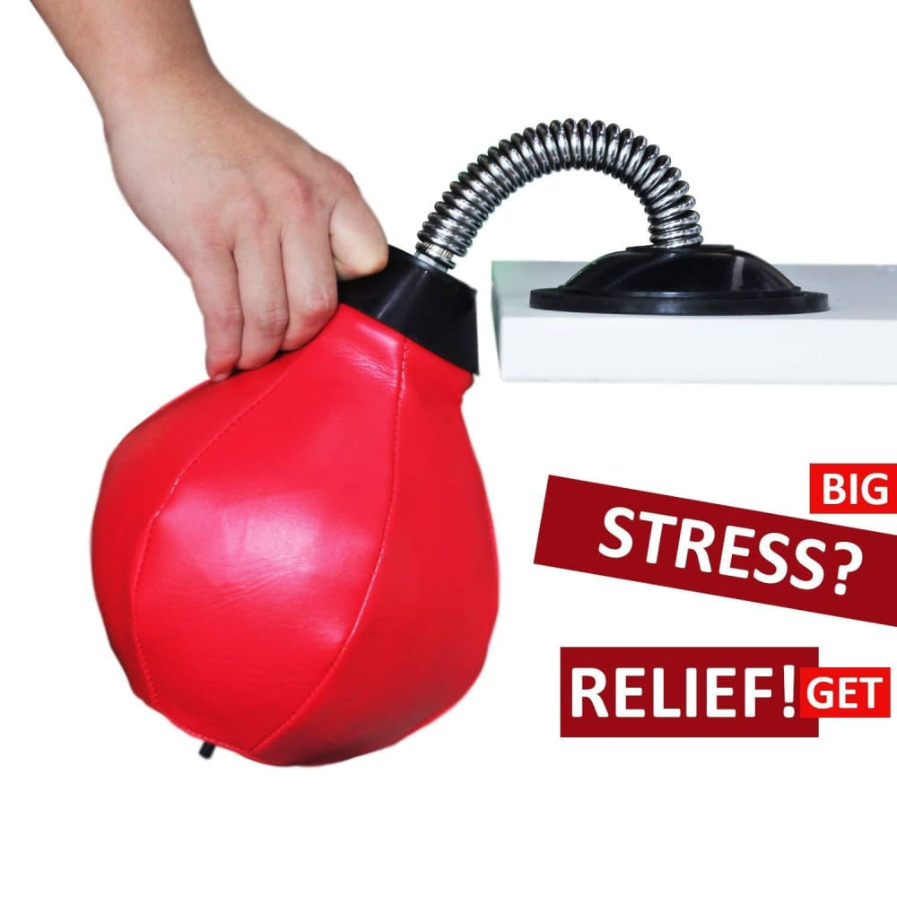 REEHUT Desktop Punching Bag/Ball Stress Buster Stress Relieve with Strong Suction Cup - Desktop Punching Bag/Ball
