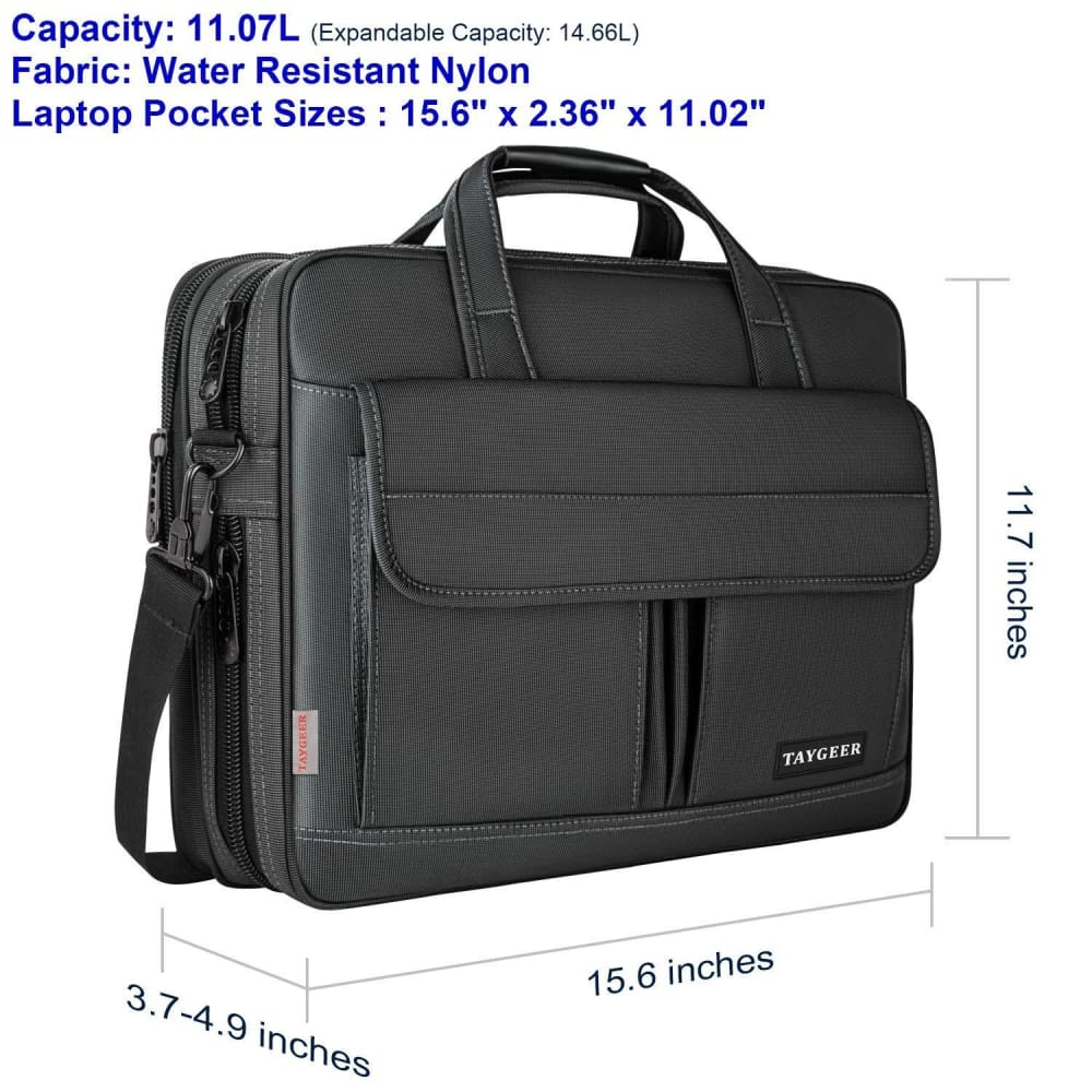 Taygeer Laptop Bag 15.6 Inch Water Resistant Briefcase - Computer Accessories