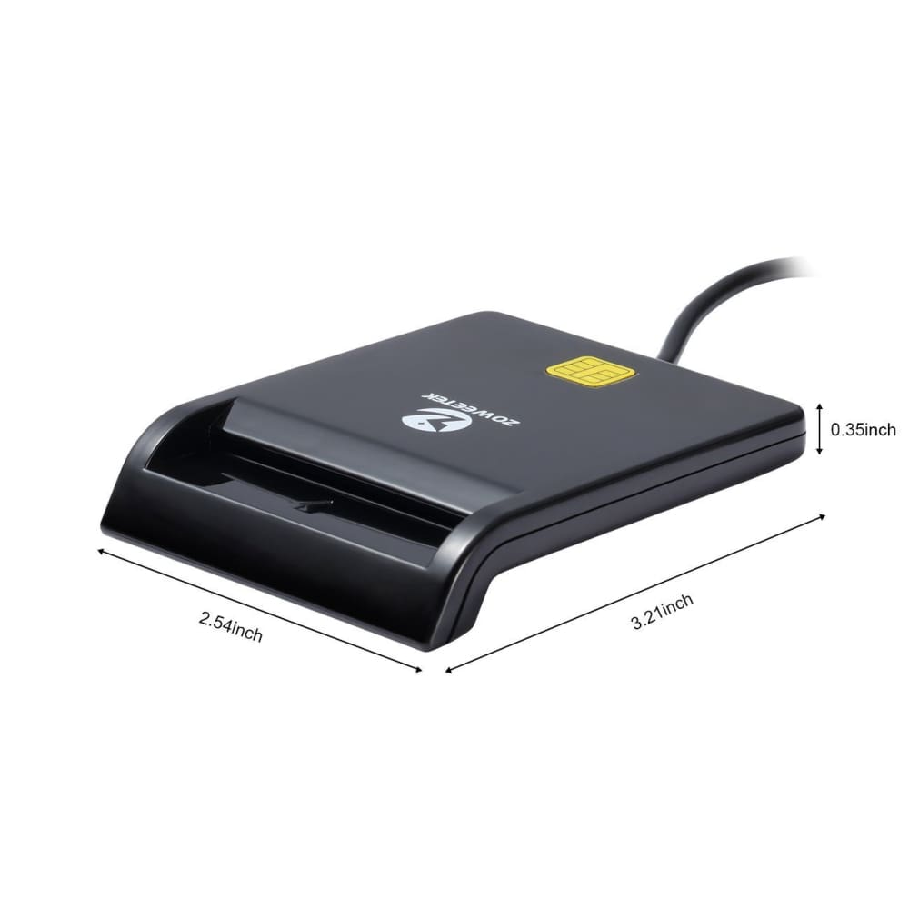 Zoweetek DOD Military USB Common Access CAC Smart Card Reader Compatible with Windows Mac OS 10.6-10.10 and Linux - CAC CARD READER