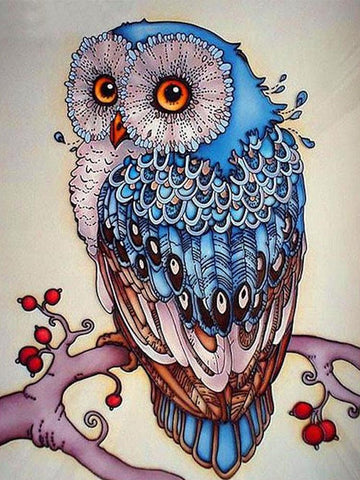 Blue Owl, DIY Diamond Painting Kit
