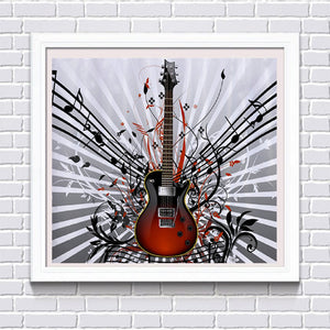 Music and Electric Guitar, DIY Diamond Painting Kit