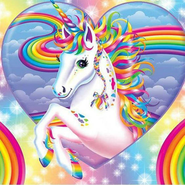 Rainbow Unicorn, DIY Diamond Painting Kit