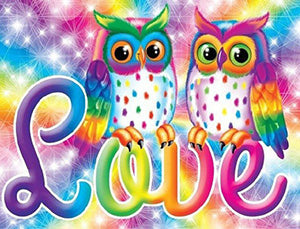 Rainbow, Owls, Love, DIY Diamond Painting Kit