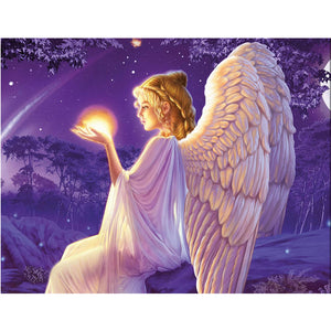 Angel in Winter, DIY Diamond Painting Kit