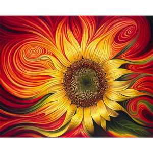 Whimsical Sunflower, DIY Diamond Painting Kit