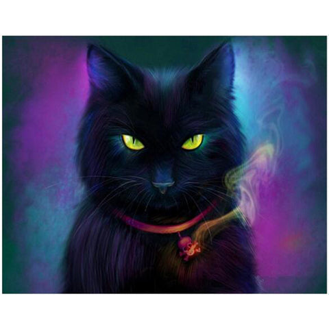 Black Cat, DIY Diamond Painting Kit