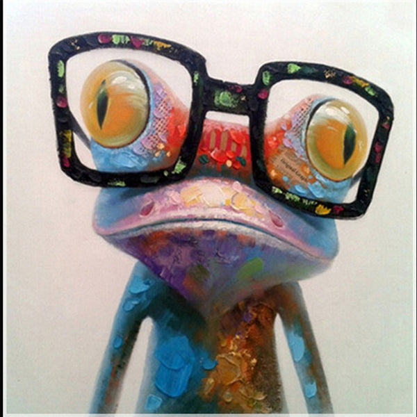 Frog Wearing Glasses, DIY Diamond Painting Kit