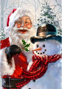 Santa and Snowman, DIY Diamond Painting Kit