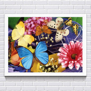 Butterflies and Flowers, DIY Diamond Painting Kit