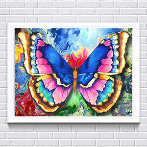 Colorful Butterfly, DIY Diamond Painting Kit
