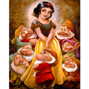 Princess and Seven Little People, DIY Diamond Painting Kit